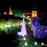 Choinka na Placu Zamkowym - fot. wieża widokowa przy kościele pw. św. Anny