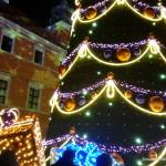 Iluminacje na Zamku Królewskim w Warszawie