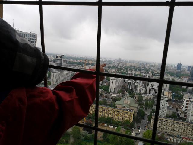 Widok z tarasu PKIN, Taras widokowy w PKiN
