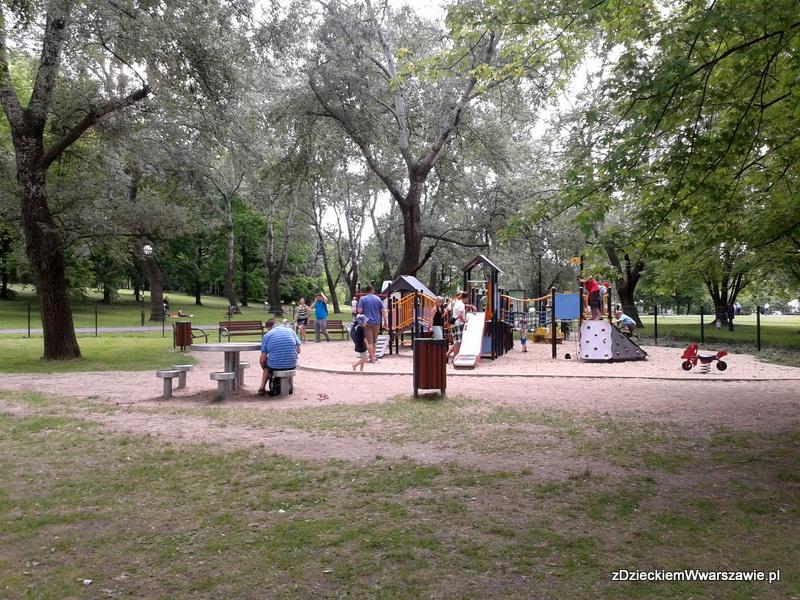 Park Kępa Potocka - mniejszy plac zabaw