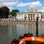 Łódki w Łazienkach, nawet gondole