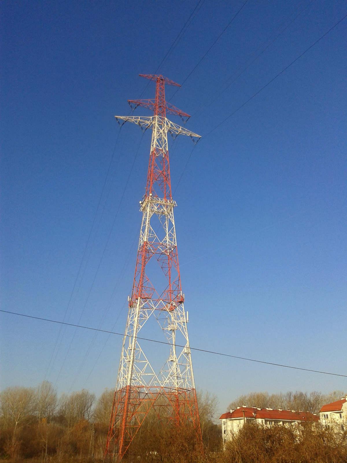 Najwyższy słup linii energetycznej w Polsce