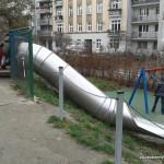 zjeżdżalnia - Plac zabaw w Parku Marszałka Edwarda Śmigłego- Rydza