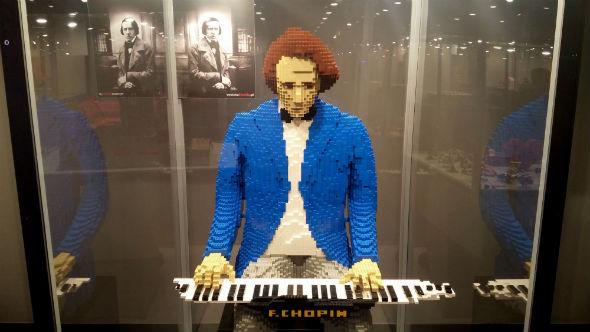 Wystawa klocków Lego Chopin