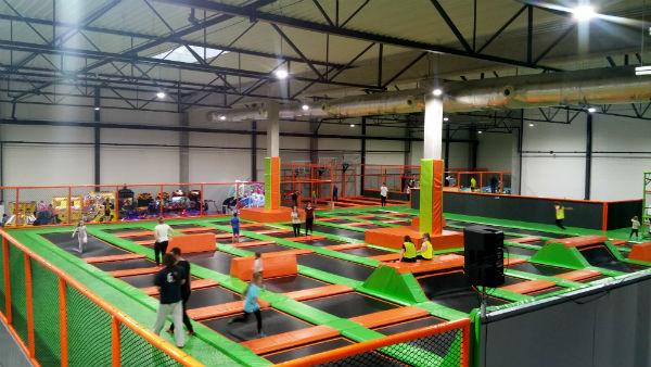 cała sala, Jump Arena, trampoliny - Marywilska 44,