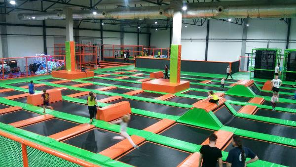 widok z gory - Jump Arena, trampoliny - Marywilska 44,