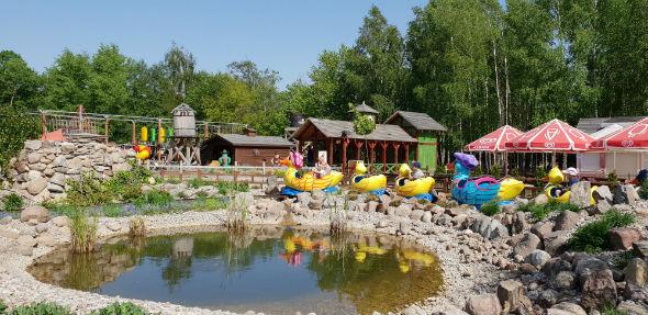 Farma Iluzji - jedna z kolejek dla dzieci