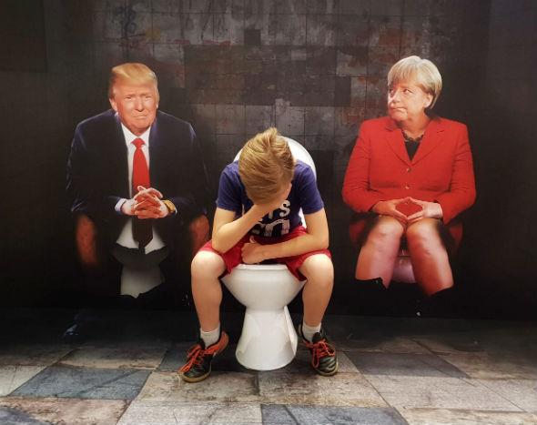 Iluzja Selfie w PKIN Angela i Donald