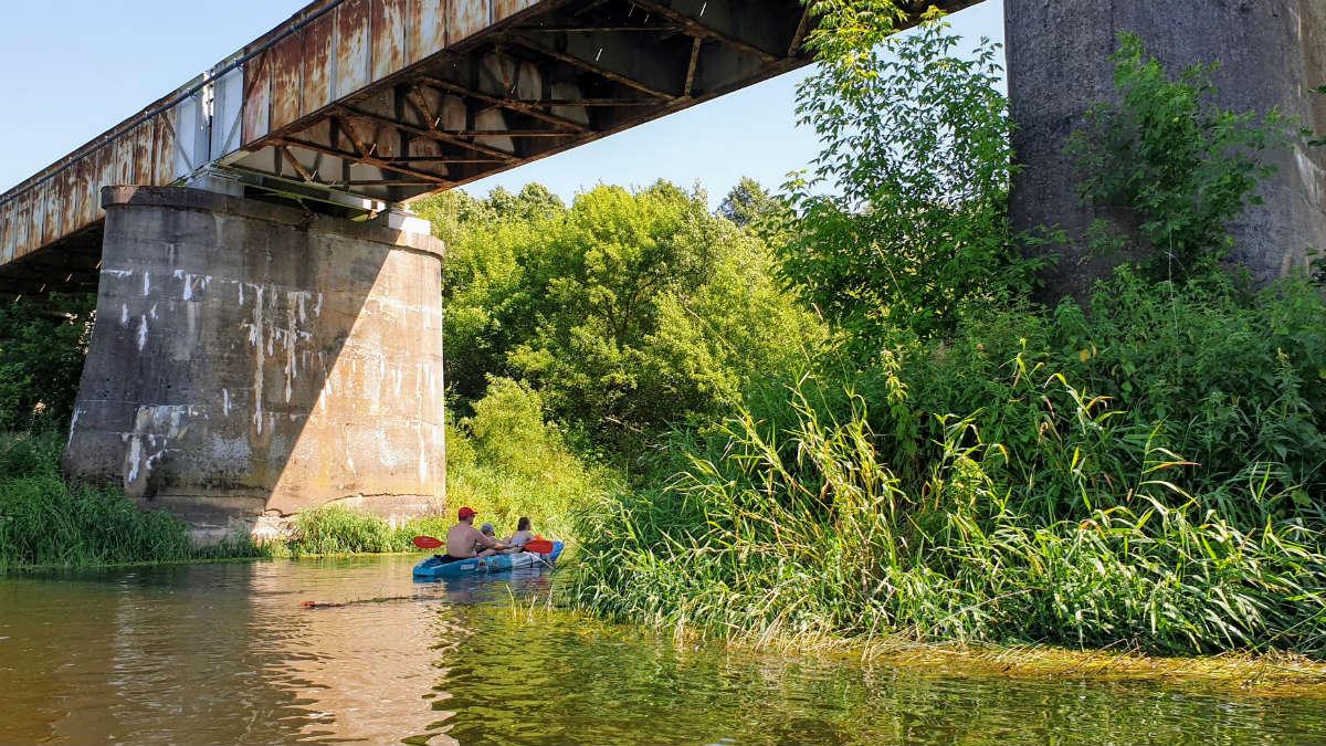 most Kajaki Wkra _