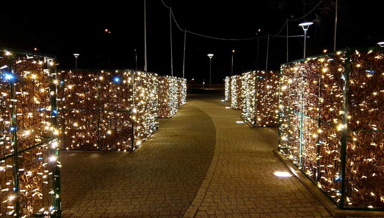 iluminacje w parku fontann